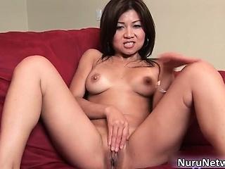 Amazing hot brunette asian mollycoddle part3