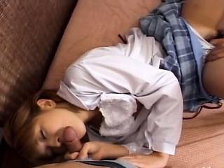 Japanese teenie fucked her pussy fixed