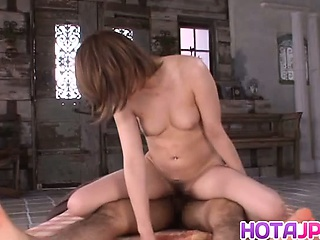 Emaciated Azumi enjoys a huge dick in the matter of her hole