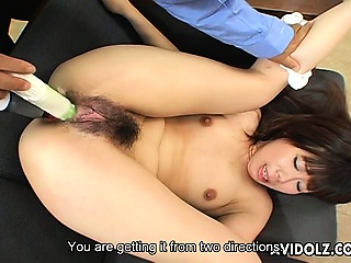 Yumi Takeda gets her holes toyed uncensored