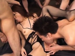 Mao Saito gets woody sign in woody in frowardness and cunt same time