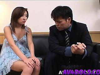 Saku is lip forth cum