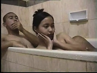 Infancy bathtub foreplay