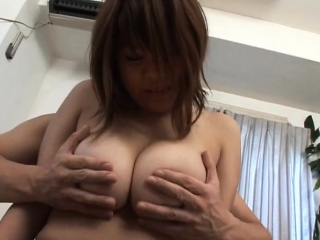 Subtitled BBW tan Japanese amateur big breasts fondling