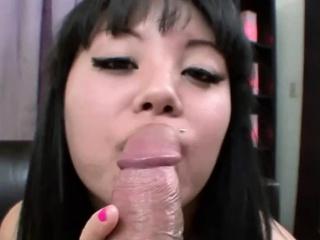 Asian Teen Gets a Beefy..