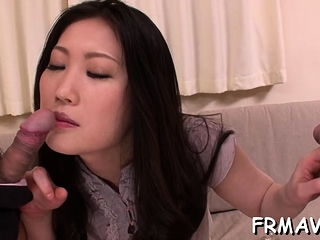 Fetching asian lover gets..