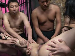 Japanese Aiko Nagai had a group sex adventure, uncensored