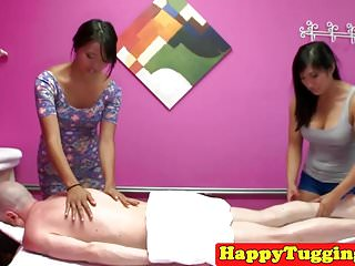 Asian massage threeway take..