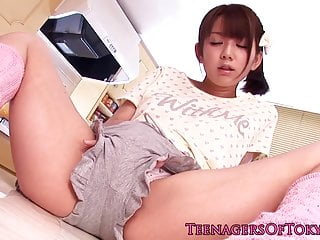 Asian teen toyed nigh..