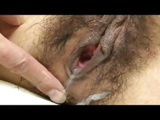 Japanese Young lady CreamPie