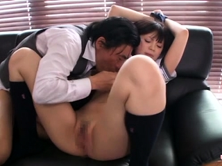 Asian schoolgirl likes with..