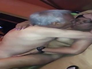 Old Asian Man Give Asian MILF
