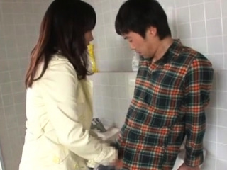 Glorious babe Yui Tanaka blows meat ready for sex
