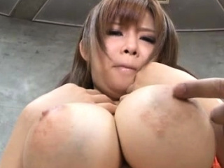 Arousing tugjob together in the matter of tit fuck in the matter of a stunning asian playgirl