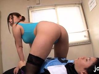 Cute nipponese sheila Daiya Nagare gets boobs licked