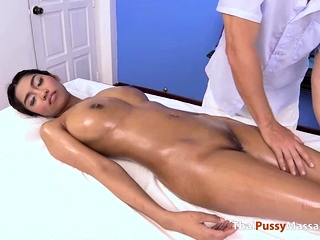 Watch the lucky masseur..