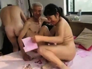 Asian Grandpa Trio with..