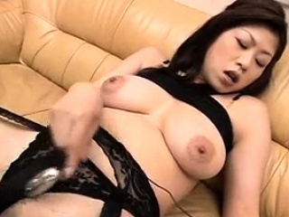 Nana Masaki loves moving down dildo inside her cunt - Hither at one's fingertips