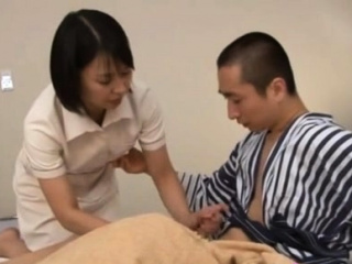 Japanese milf nurse bows..