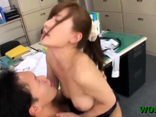 Large weenie be proper of an office call-girl