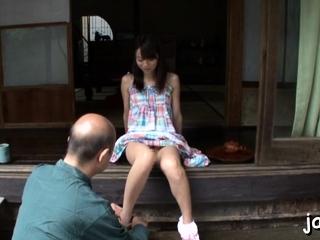 Fresh eastern Asuka Hoshino deepthroats pole