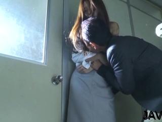 Mischievous eastern Manami Suzuki gets circle caressed generously