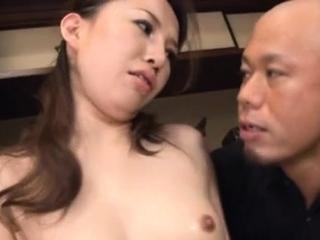 Playful gal Keiko Takikawa gets rammed with happiness