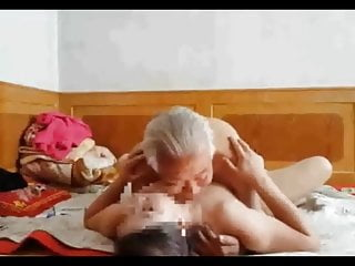 Asian chinese dirty grandpa..