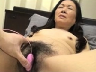 Bound Japanese flimsy pussy toying