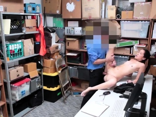 Two girls in the office plus men blowjob LP officer rushed