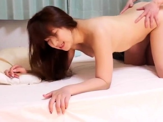 Doggystyle charming Japanese pussy panties