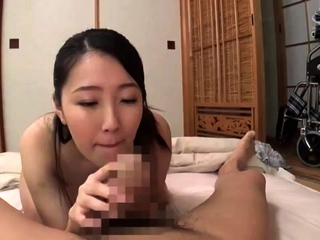 A topless Frea gives a hot handjob and blowjob
