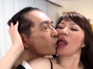 Kinky double Japanese blowjob and hardcore fucking