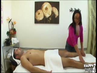 Cute Asian masseuse rides..