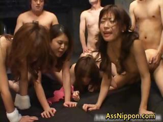 Several Japanese Girls Orgy..